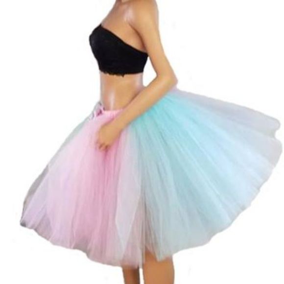 48293c5ac6a2e BB's Boutique Skirts | Adult Pastel Rainbow Tutu | Poshmark